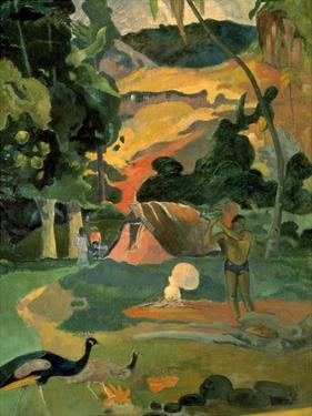 Landscape with Peacock by Paul Gauguin