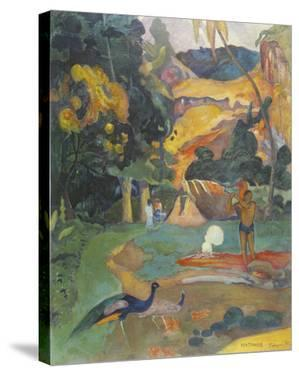 Landscape with Peacocks by Paul Gauguin