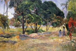 Landscape with Three Trees (Paysage Aux Trois Arbres), 1892 by Paul Gauguin