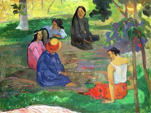 Les Parau Parau (The Gossipers), or Conversation, 1891 by Paul Gauguin