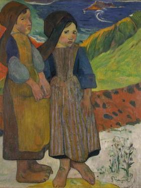 Little Breton Girls by the Sea, 1889 by Paul Gauguin