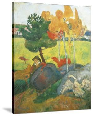 Little Breton with Goose, 1889 by Paul Gauguin