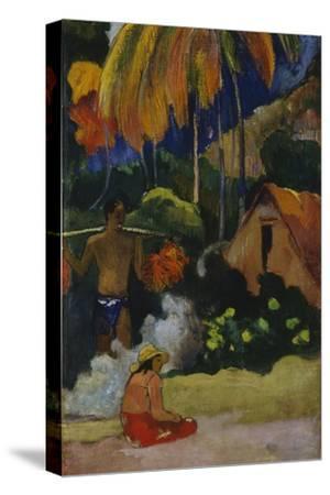 Mahana Maà (Landscape in Tahit) by Paul Gauguin