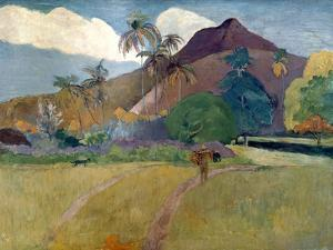 Mountain on Tahiti, 1893 by Paul Gauguin