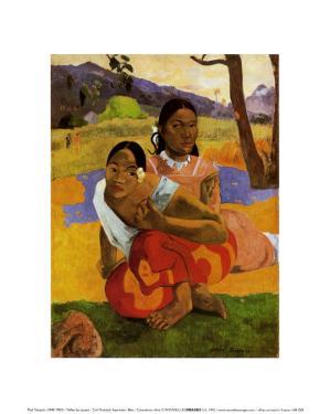 Nafea Faa Ipcipo by Paul Gauguin