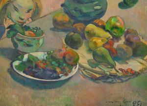 Nature morte aux fruits-Still-life with fruit,1888 Canvas,43 x 58 cm Inv.3271. by PAUL GAUGUIN