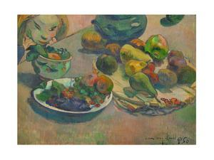 Nature morte aux fruits-Still-life with fruit,1888 Canvas,43 x 58 cm Inv.3271. by Paul Gauguin