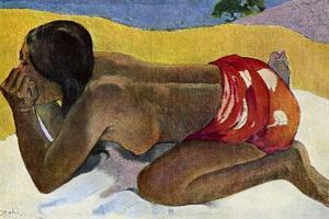 Otahi (Alon), 1893 by Paul Gauguin