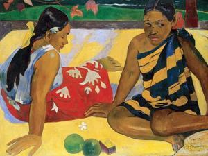 Parau Api, What's New?, 1892 by Paul Gauguin