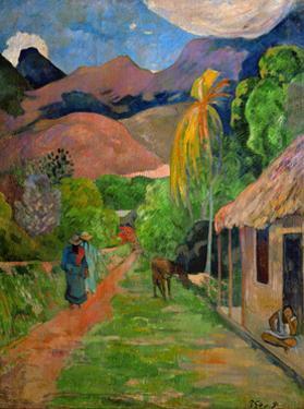 Path in Papeete, called rue du Tahiti. Oil on canvas (1891) 115.5 x 88.5 cm Cat. W 441. by PAUL GAUGUIN