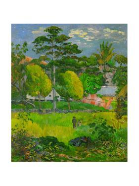 Paysage, 1901 Canvas, 76 x 65 cm RF 1963-107. by Paul Gauguin