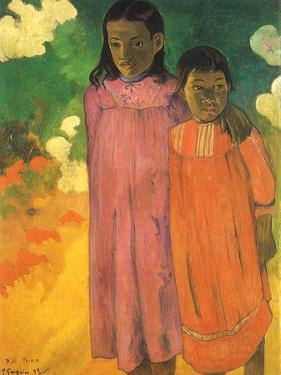 Piti Teina (Two Sisters), 1892 by Paul Gauguin