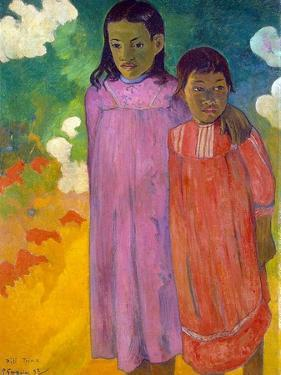 Piti Tiena, (Two Sister), 1892 by Paul Gauguin