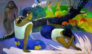 Pleasures of the Evil Spirit, (Arearea No Vareua Ino), 1894 by Paul Gauguin