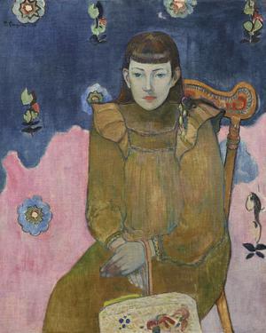 Portrait of a Young Woman, Vaite. Jeanne Goupil 1896 by Paul Gauguin
