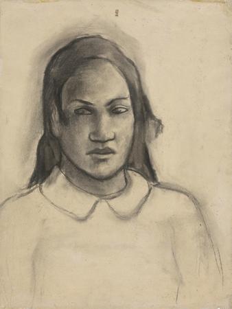 Portrait of Tehamana, 1891-93 by Paul Gauguin