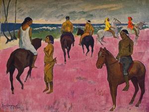 'Reiter am Strande', 1902 by Paul Gauguin