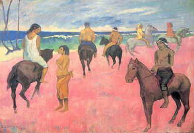 Paul Gauguin (Rider on the beach) Art Poster Print