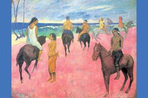Riding on the Beach by Paul Gauguin