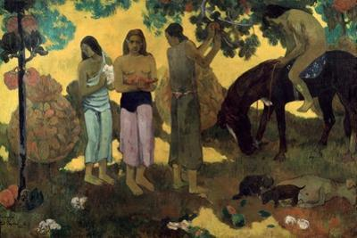 Rupe Rupe (Fruit Gatherin), 1899 by Paul Gauguin