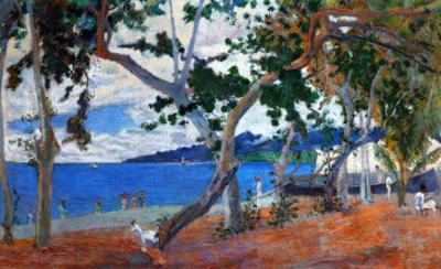 Seashore I, 1887, Island of Martinique by Paul Gauguin