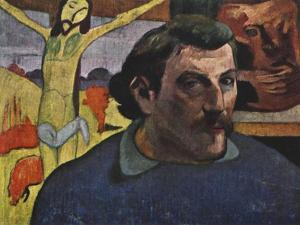 Self Portrait with the Yellow Christ, 1889 by Paul Gauguin