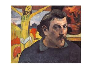 Self-Portrait with the Yellow Christ by Paul Gauguin