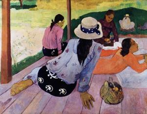 Siesta by Paul Gauguin