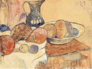 Still Life with a Pitcher and Fruit; Nature Morte a La Cruche Et Aux Fruits, C.1899 by Paul Gauguin