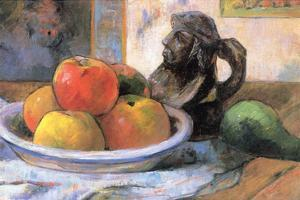 Still Life with Apples, Pears and Krag by Paul Gauguin