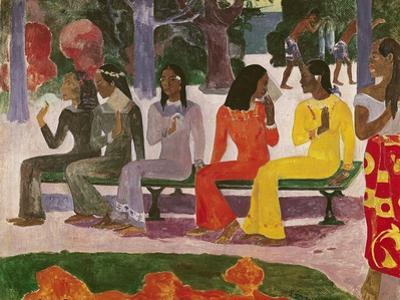 Ta Matete (We Shall Not Go to Market Today) 1892 by Paul Gauguin