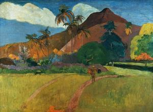 Tahitian Mountains by Paul Gauguin