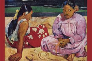 Tahitian Women on Beach by Paul Gauguin
