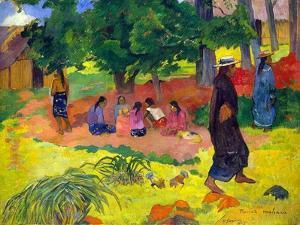Taperaa Mahana, (Late Afternoo), 1892 by Paul Gauguin