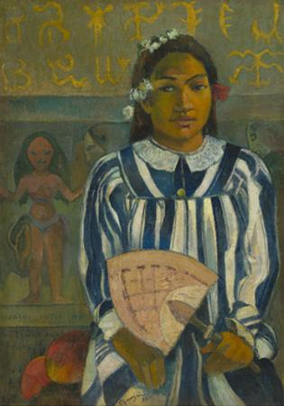 The Ancestors of Tehamana OR Tehamana Has Many Parents , 1893 by Paul Gauguin