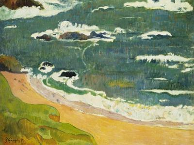 The Beach Near Le Pouldu, 1889 by Paul Gauguin
