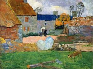 The Blue Roof or Pouldu Farm, 1890 by Paul Gauguin