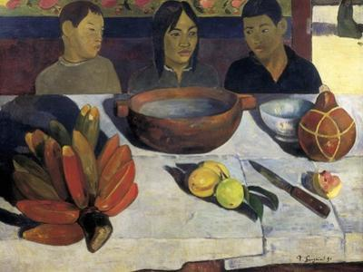 The Meal or the Bananas by Paul Gauguin