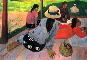 Paul Gauguin (The midday rest) Art Poster Print
