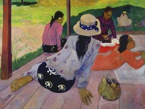 The Siesta, about 1892-94 by Paul Gauguin