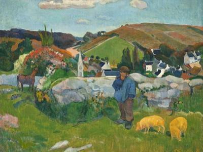 The Swineherd, 1888 by Paul Gauguin