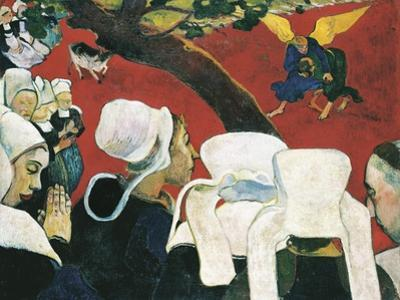 The Vision after the Sermon by Paul Gauguin