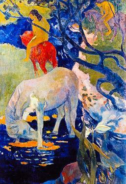 Paul Gauguin The White Horse Art Print Poster