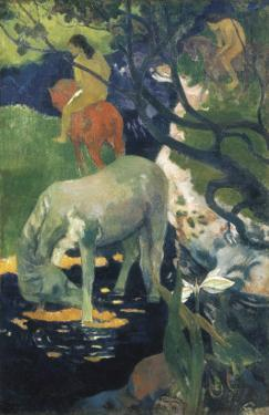 The White Horse by Paul Gauguin