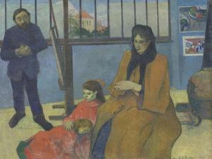 The Workshop Schuffenecker or Family Schuffenecker by Paul Gauguin