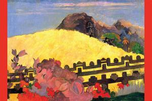 There Is the Temple by Paul Gauguin