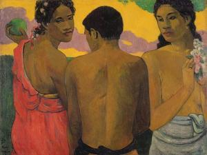 Three Tahitians, 1899 by Paul Gauguin
