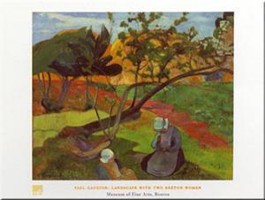 Two Breton Women by Paul Gauguin