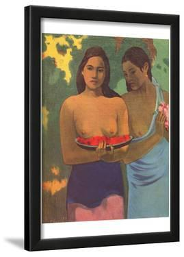 Paul Gauguin (Two girls with mango blossoms) Art Poster Print