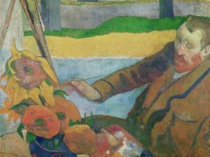 Van Gogh Painting Sunflowers, 1888 by Paul Gauguin